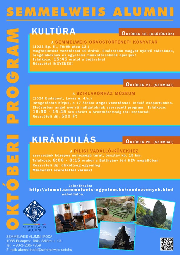 Semmelweis Alumni - 2012 októberi programok