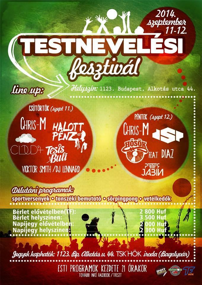 Testnevelési Fesztivál 2014 (plakát)