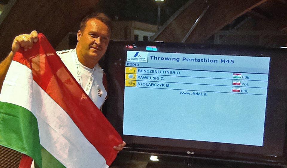 Benczenleitner Ottó sikere a World Masters Games-en