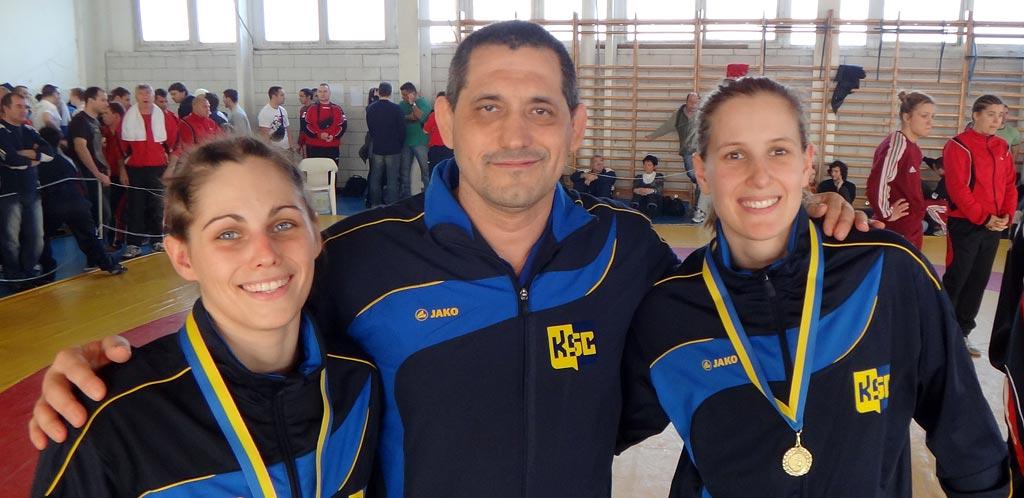 Birkózóink a női szabadfogású válogató versenyen (2012.02.)