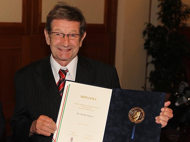 Dr. Pavlik Gábor elismerése