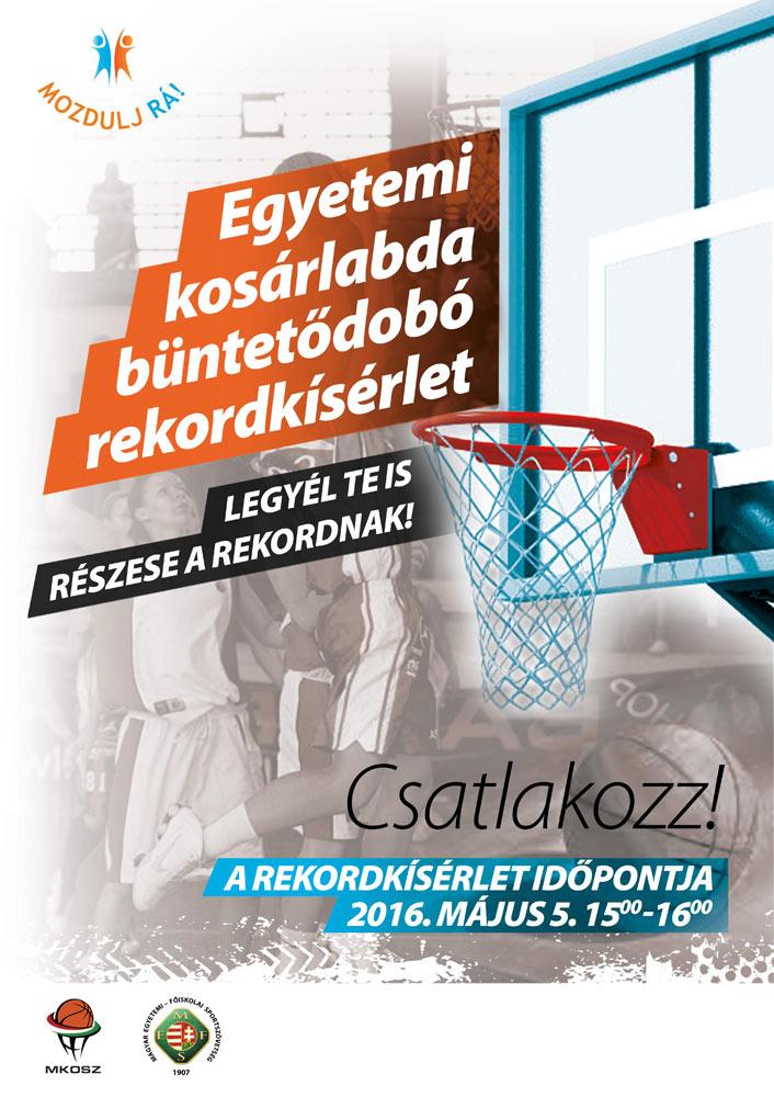 Egyetemi Kosárlabda Büntetődobó Rekordkísérlet (plakát)