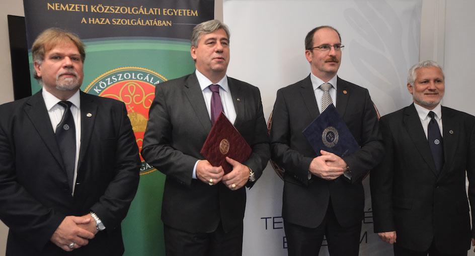 Együttműködési megállapodást kötött az TE és az NKE