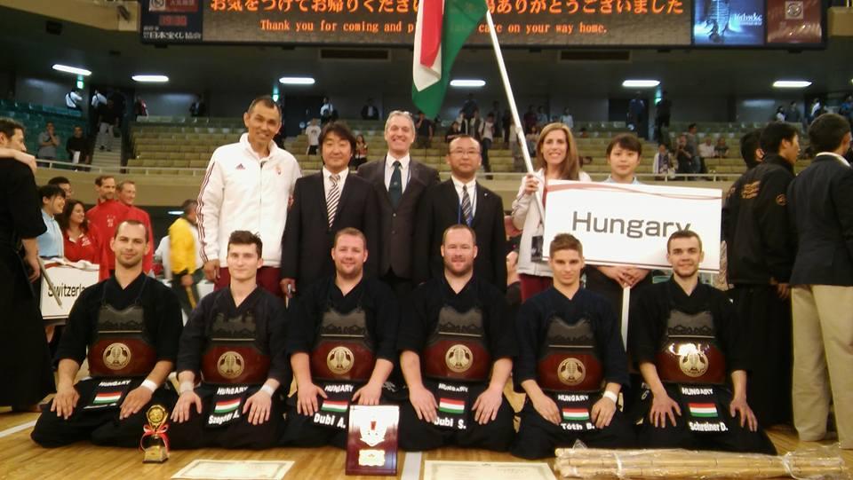 Kendó világbajnokság: 3. hely a csapatversenyben