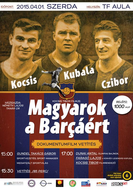 Magyarok a Barcaért (filmvetítés)