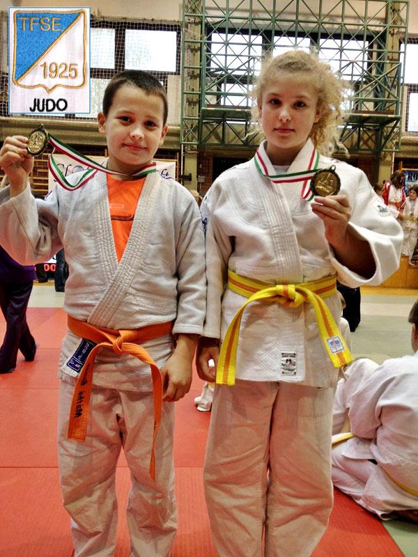 Máthé Bence és Szakál Szonja (TFSE Judo, Diák OB arany)