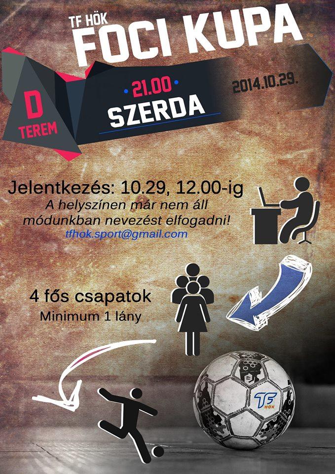 Meghívó a TF HÖK Foci Kupára (plakát)