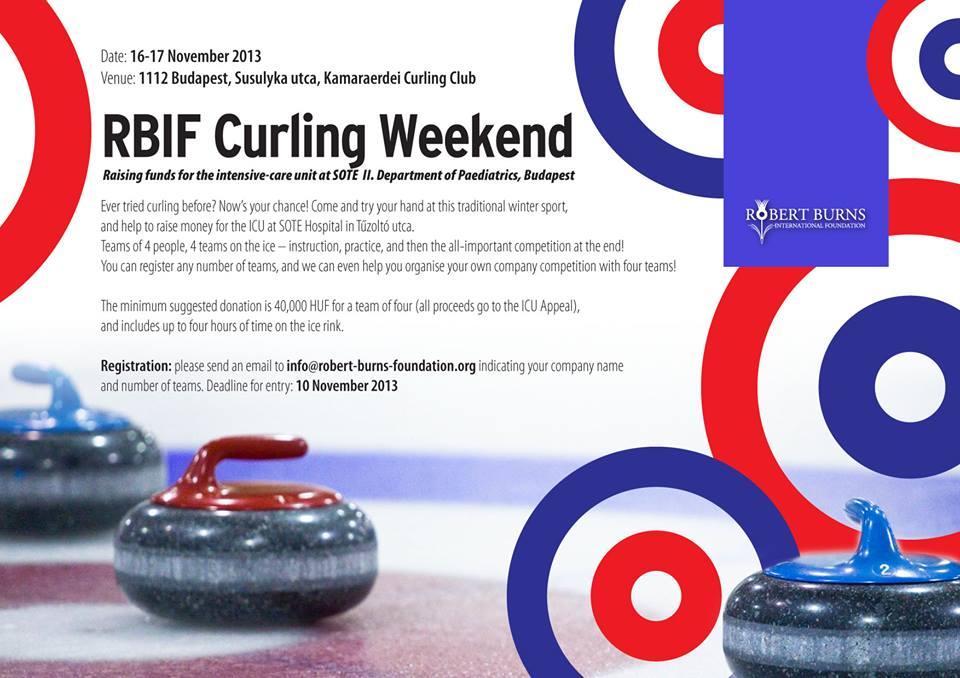 Meghívó jótékonysági curlingeseményre