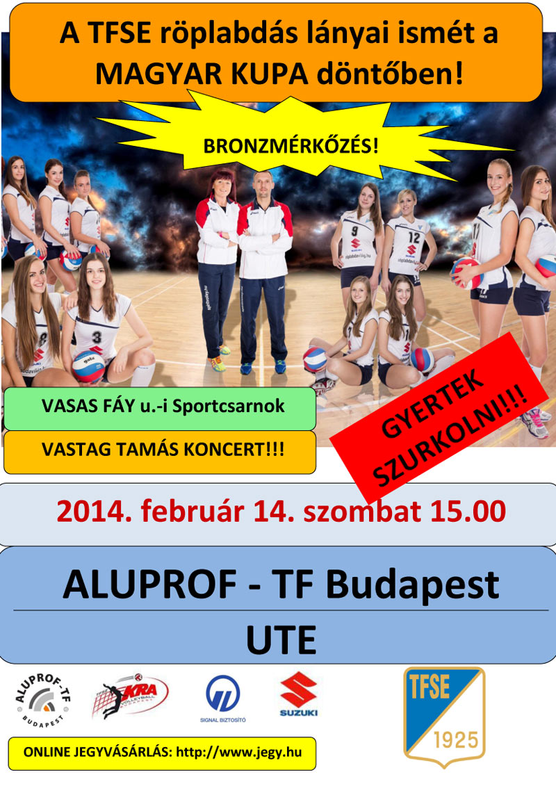 A TFSE röplabdás lányai a Magyar Kupa döntőjében!