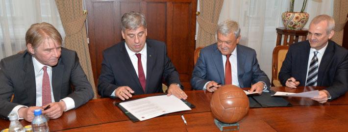Együttműködési megállapodást írtak alá az MLSZ és a TE vezetői