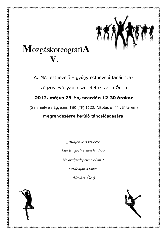 MozgáskoreográfiA 2013