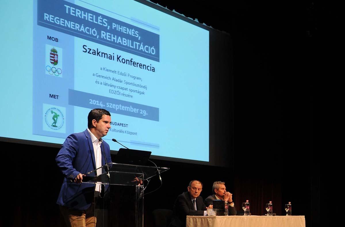 Radák Zsolt a MET konferenciáján