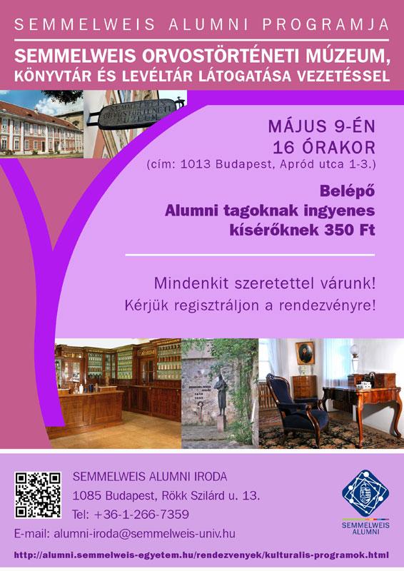 A Semmelweis Alumni májusi programjai
