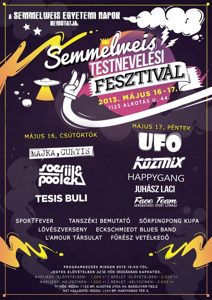 Semmelweis Testnevelési Fesztivál 2013 (plakát)