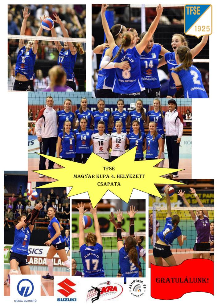 A TFSE női röplabda csapata negyedik lett a Magyar Kupában