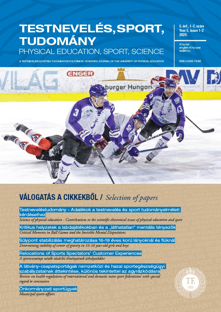 Physical Education, Sport, Science (2019/3-4)